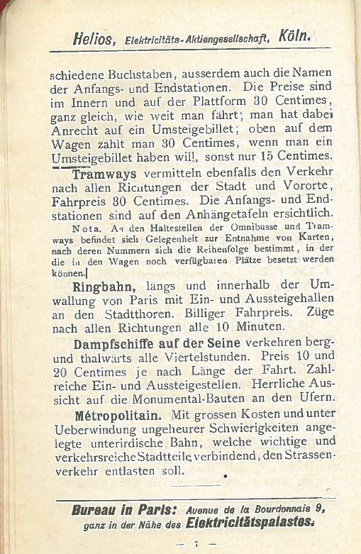 Helios Führer durch Paris, herausgegeben anläßlich der Pariser Welt-Ausstellung 1900