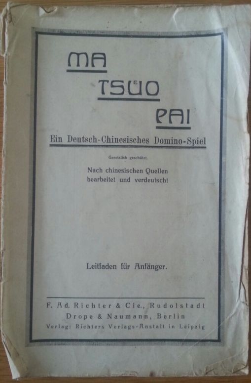 Mah-Jongg - Ma-Tsüo-Pai - 1920