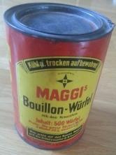 Blechdose Maggi Bouillonwürfel