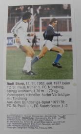 Fussball-Sammelbild Rudi Sturz Stollwerck