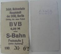 BVB Fahrkarte