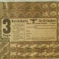 Urlaubszeit - ans Essen denken - Lebensmittelkarte für Urlauber - Sommer 1944