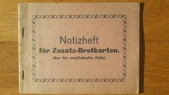 Notizheft für Zusatz-Brotkarten