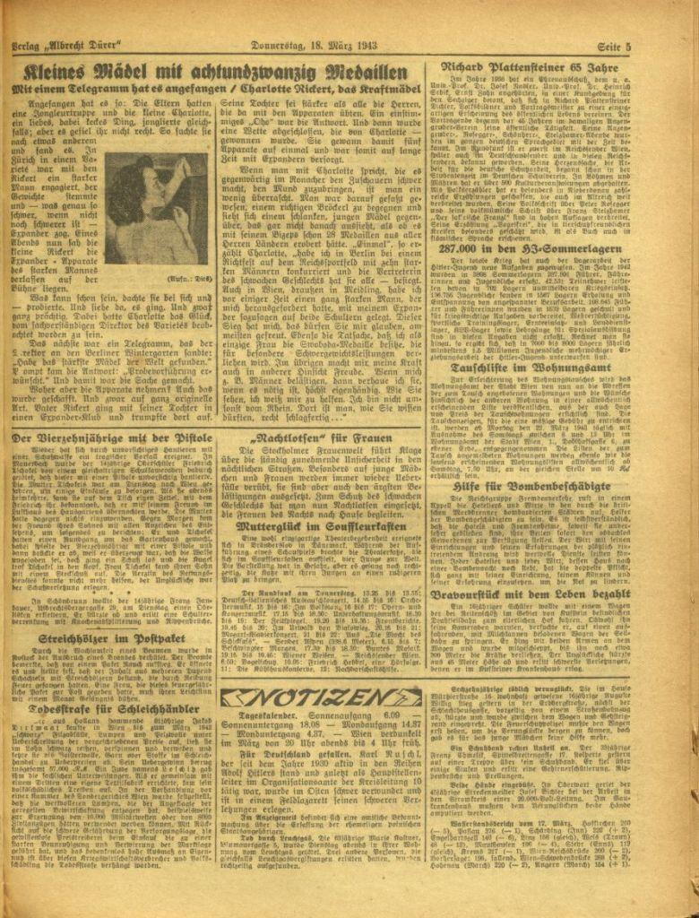Charlotte Rickert - die Geschichte von der Goldmedaille bei den Olympischen Spielen 1936